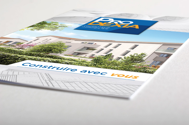 plaquette immobiliere branding